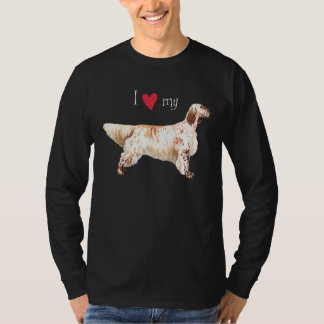 I Love my English Setter T-Shirt