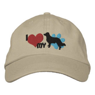 I Love my English Shepherd Embroidered Hat