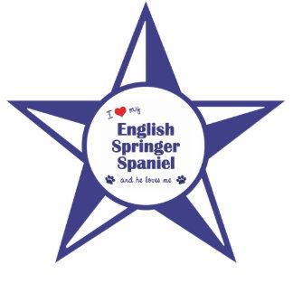 I Love My English Springer Spaniel (Male Dog) Photo Sculpture Decoration