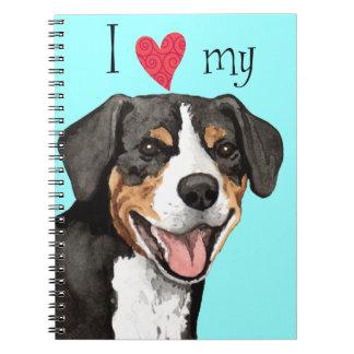 I Love my Entlebucher Spiral Note Book