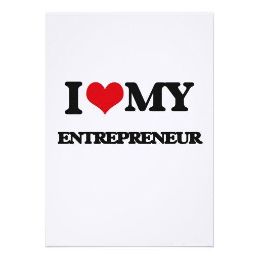 I love my Entrepreneur Personalized Invitations