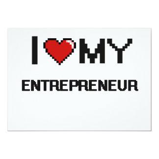 "I love my Entrepreneur 5"" X 7"" Invitation Card"