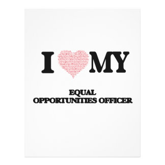 I love my Equal Opportunities Officer (Heart Made 21.5 Cm X 28 Cm Flyer