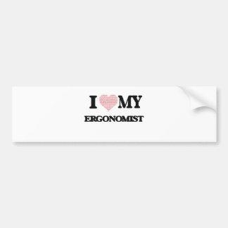 I love my Ergonomist (Heart Made from Words) Bumper Sticker
