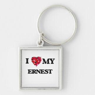 I love my Ernest Silver-Colored Square Key Ring