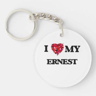 I love my Ernest Single-Sided Round Acrylic Key Ring