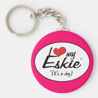 I Love My Eskie (It's a Dog) Basic Round Button Key Ring