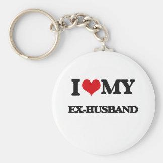 I love my Ex-Husband Basic Round Button Key Ring
