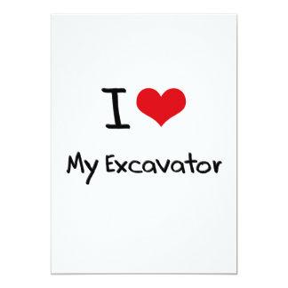 I love My Excavator Custom Invites