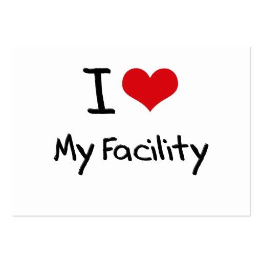 I Love My Facility Business Card Templates