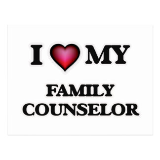 I love my Family Counselor Postcard