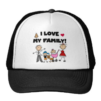I Love My Family Tshirts and Gifts Cap