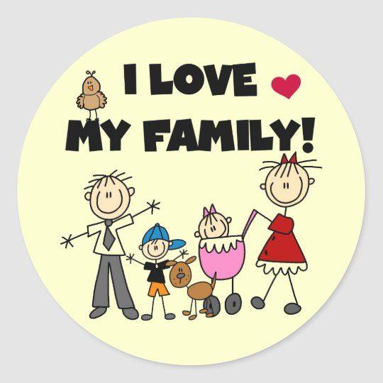 I Love My Family Tshirts and Gifts Classic