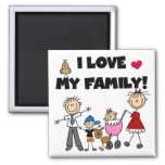 I Love My Family Tshirts and Gifts Fridge Magnet