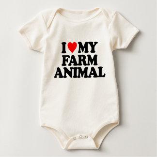 I LOVE MY FARM ANIMAL ROMPERS