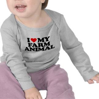 I LOVE MY FARM ANIMAL TEE SHIRTS