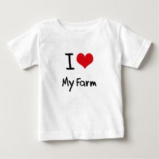 I Love My Farm T Shirts