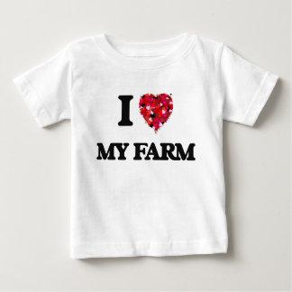 I Love My Farm T Shirt