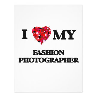 I love my Fashion Photographer 21.5 Cm X 28 Cm Flyer
