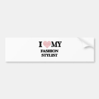 I love my Fashion Stylist (Heart Made from Words) Bumper Sticker