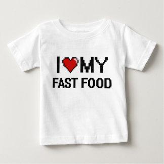 I Love My Fast Food Digital design Tee Shirts