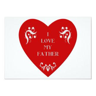 I love my father 13 cm x 18 cm invitation card