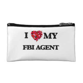 I love my Fbi Agent Cosmetic Bags