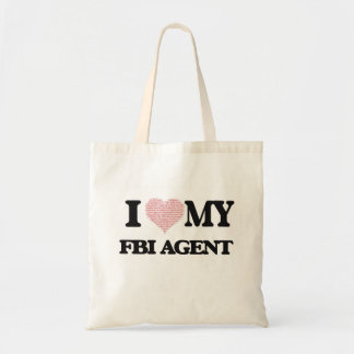 I love my Fbi Agent (Heart Made from Words) Budget Tote Bag