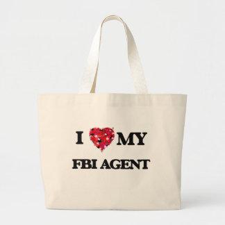 I love my Fbi Agent Jumbo Tote Bag
