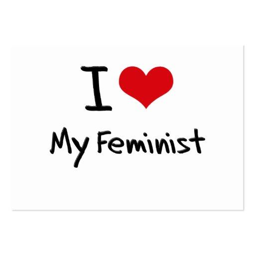 I Love My Feminist Business Card