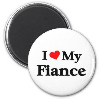 I love my Fiance Refrigerator Magnets