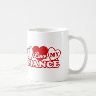 I Love My Fiance Coffee Mugs