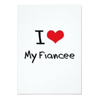 I Love My Fiancee Personalized Invitation