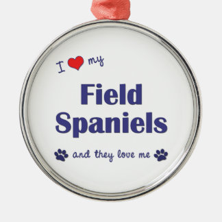 I Love My Field Spaniels (Multiple Dogs) Christmas Ornament