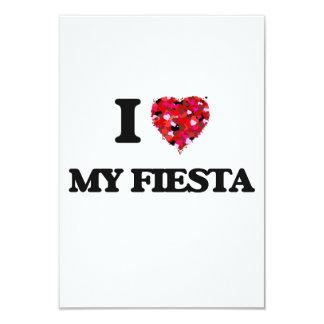 I Love My Fiesta 9 Cm X 13 Cm Invitation Card