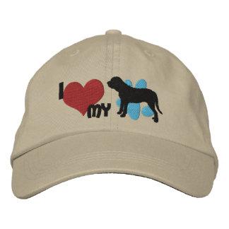 I Love my Fila Brasileiro Embroidered Hat