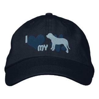 I Love my Fila Brasileiro Embroidered Hat (Blue)