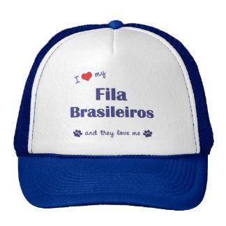I Love My Fila Brasileiros (Multiple Dogs) Cap
