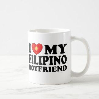 I Love My Filipino Boyfriend Basic White Mug