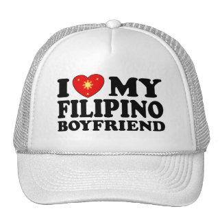 I Love My Filipino Boyfriend Mesh Hat