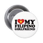I Love My Filipino Girlfriend Badges