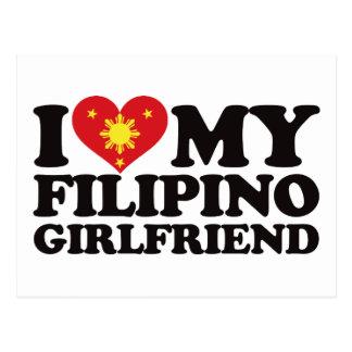 I Love My Filipino Girlfriend Post Card