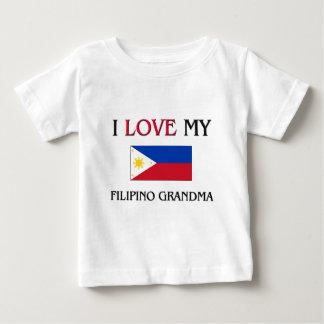 I Love My Filipino Grandma Baby T-Shirt