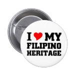 I love my Filipino Heritage 6 Cm Round Badge