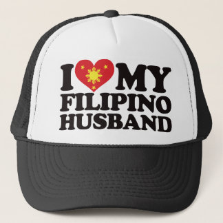 I Love My Filipino Husband Trucker Hat