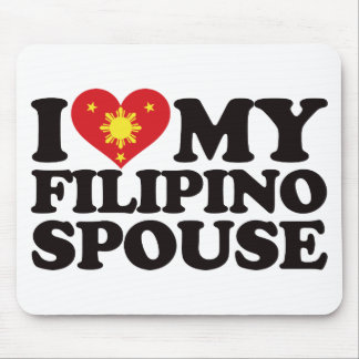 I Love My Filipino Spouse Mouse Pads