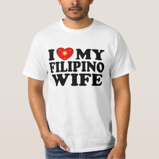 I Love My Filipino Wife T Shirts