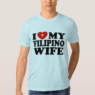 I Love My Filipino Wife T-shirts