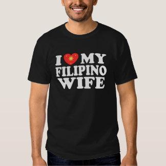 I Love My Filipino Wife Tee Shirts