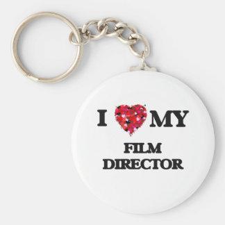 I love my Film Director Basic Round Button Key Ring